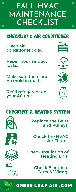 Fall HVAC Maintenance Checklist