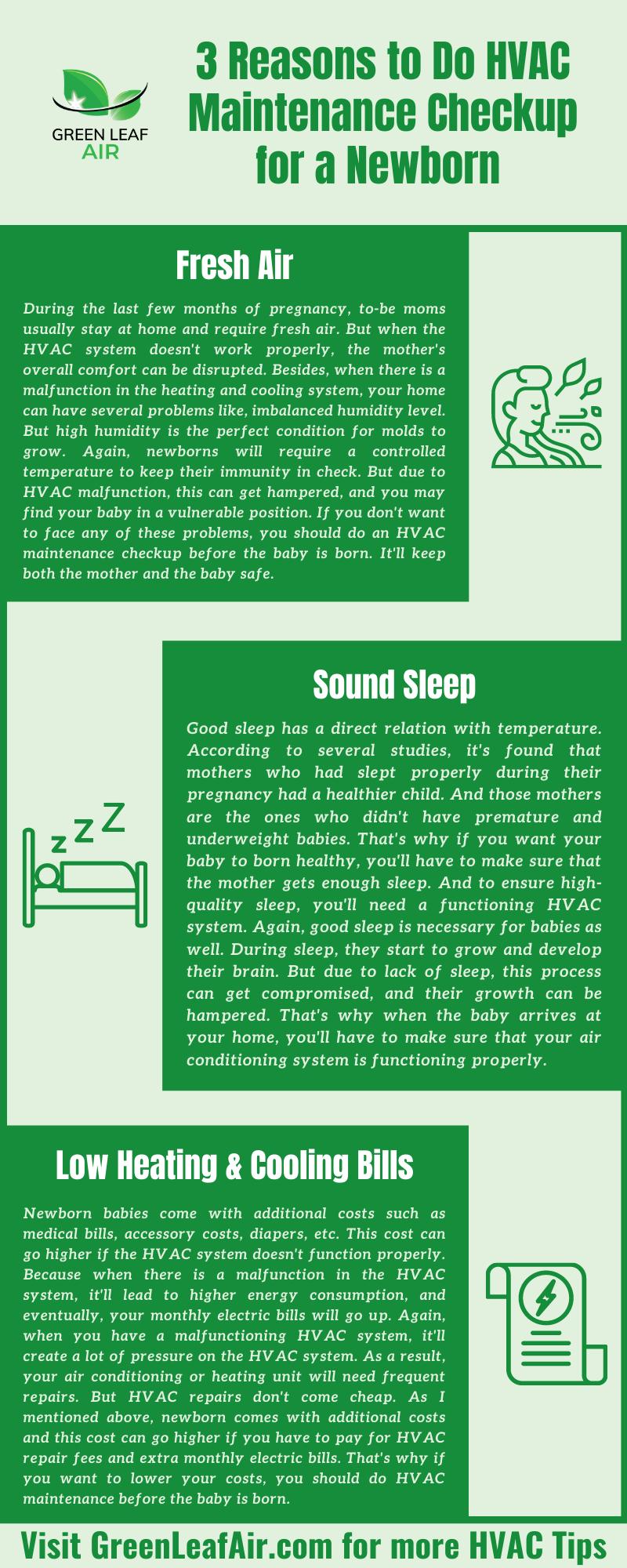 3 Reasons to Do HVAC Maintenance Checkup for a Newborn