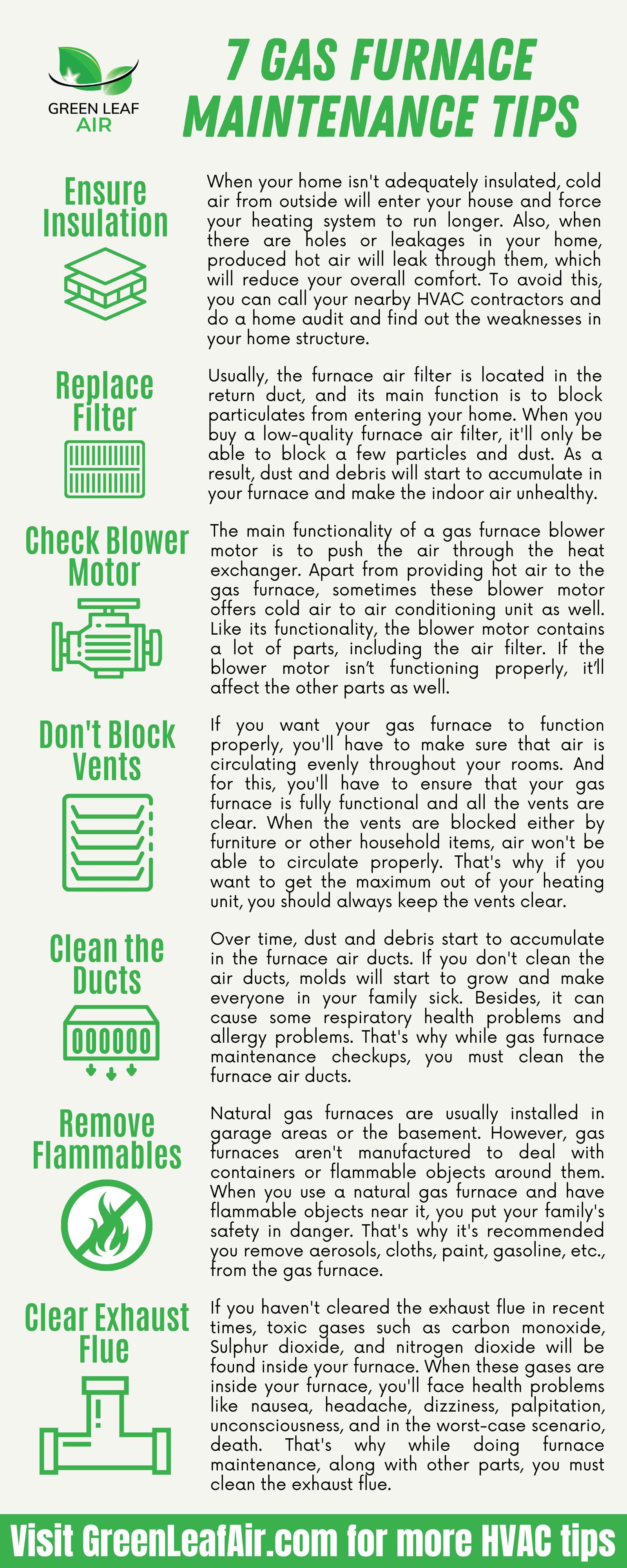 7 Gas Furnace Maintenance Tips
